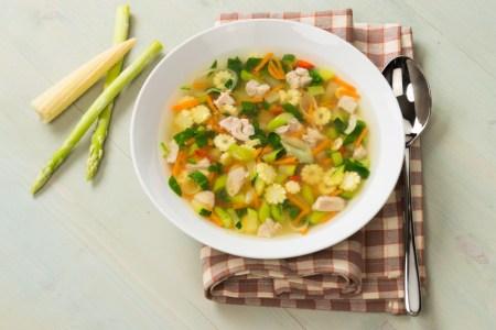 Рецепт легкого куриного супа с овощами