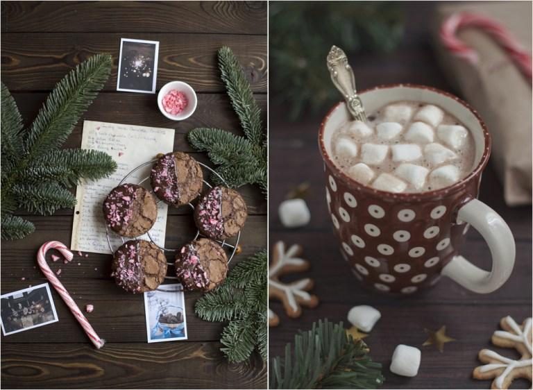 Рецепт шоколадного печенья с леденцами