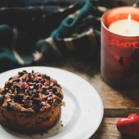 Рецепт вишневого пирога с орехами