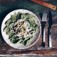 Рецепт домашней пасты со свежим шпинатом