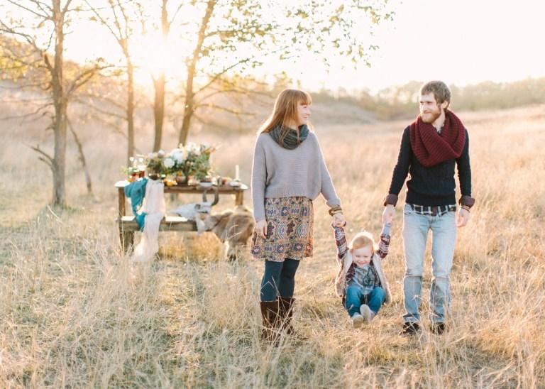 Семейный пикник: Ева и ее родители
