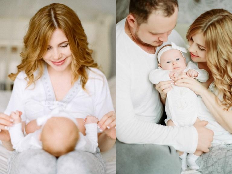 Цветочное утро: семейная съемка Есении с родителями