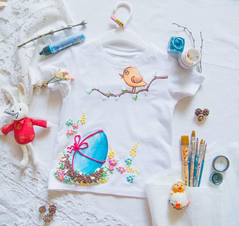 Мастер-класс к празднику: пасхальная футболка