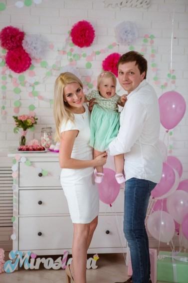 M&M's и маленькая Булочка: первый день рождения Мирославы
