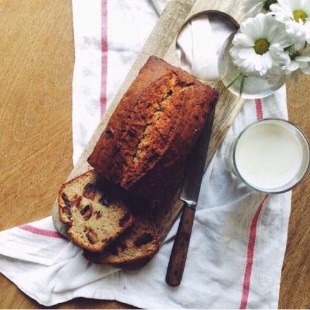 Рецепт бананового хлеба с финиками