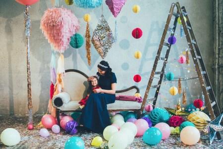 Confetti party: стилизованная новогодняя съемка