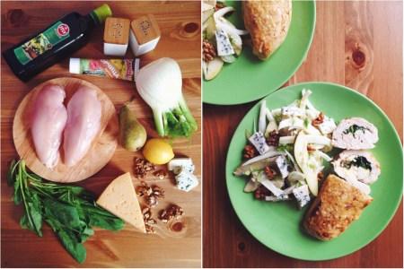 Быстрые рецепты от Вероники: куриные рулетики и салат из фенхеля и груши