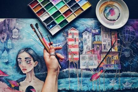 Художественная студия «Кроличья Нора. Рисуй за мной»