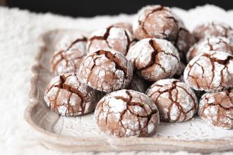Les Crinkles, ces biscuits moelleux au chocolat