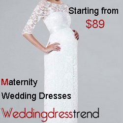 Buy maternity wedding dresses free shipping from weddingdresstrend.com