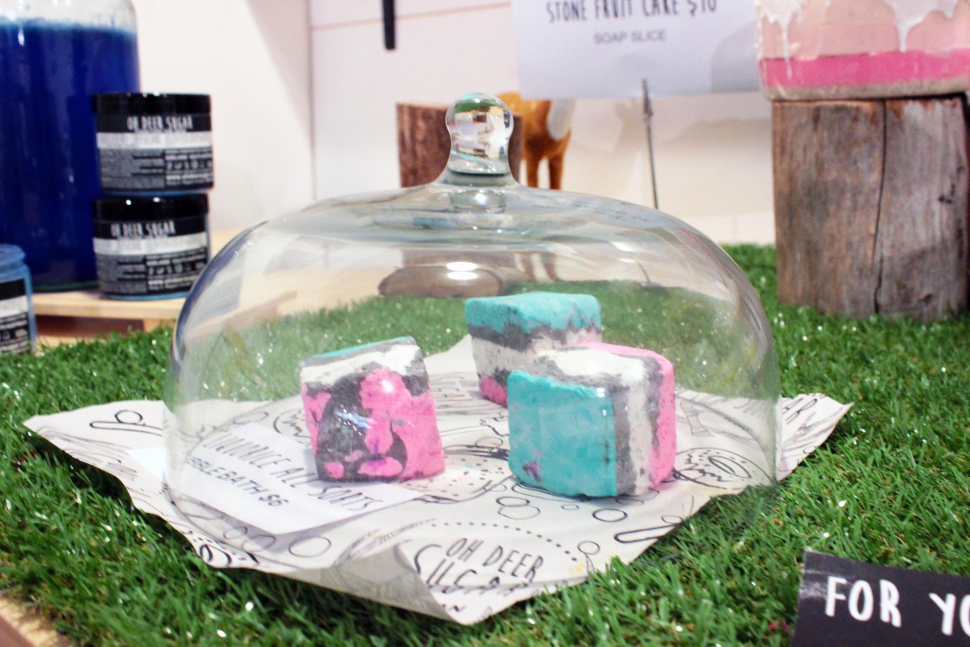 Marshmallow bubble bath squares