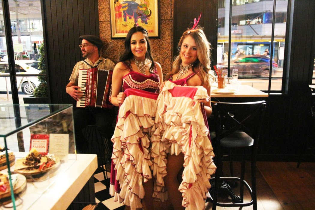 French can-can girls at Madame Hanoi's Bastille Day