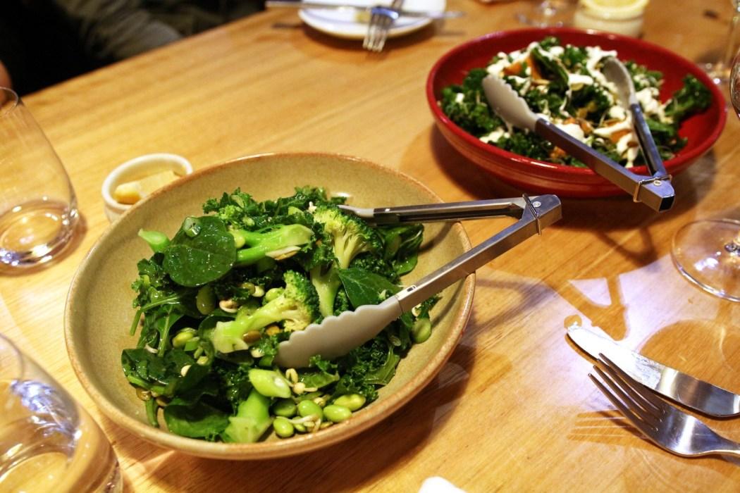 Salads, salads, salads, salads.