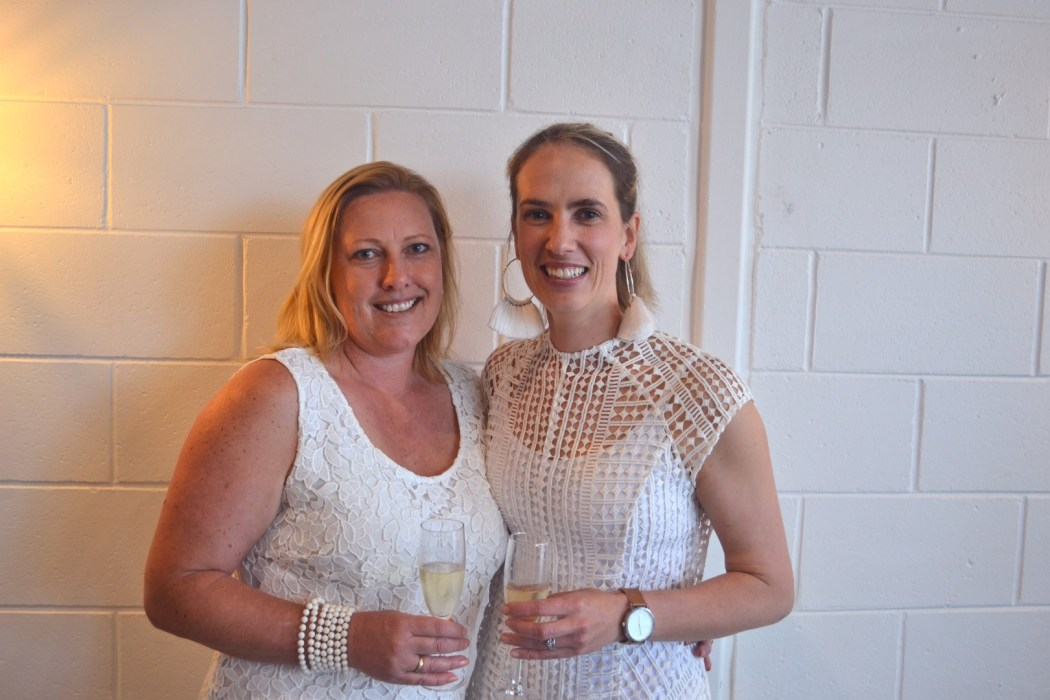 Adelaide hosts Mel and Sam enjoying some Moet at the launch.