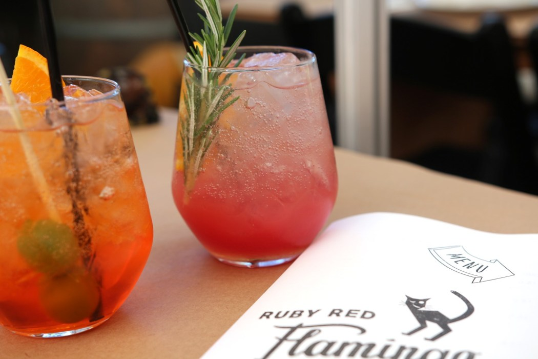 The Tangelo Spritz is a gorgeous pinky-red colour.