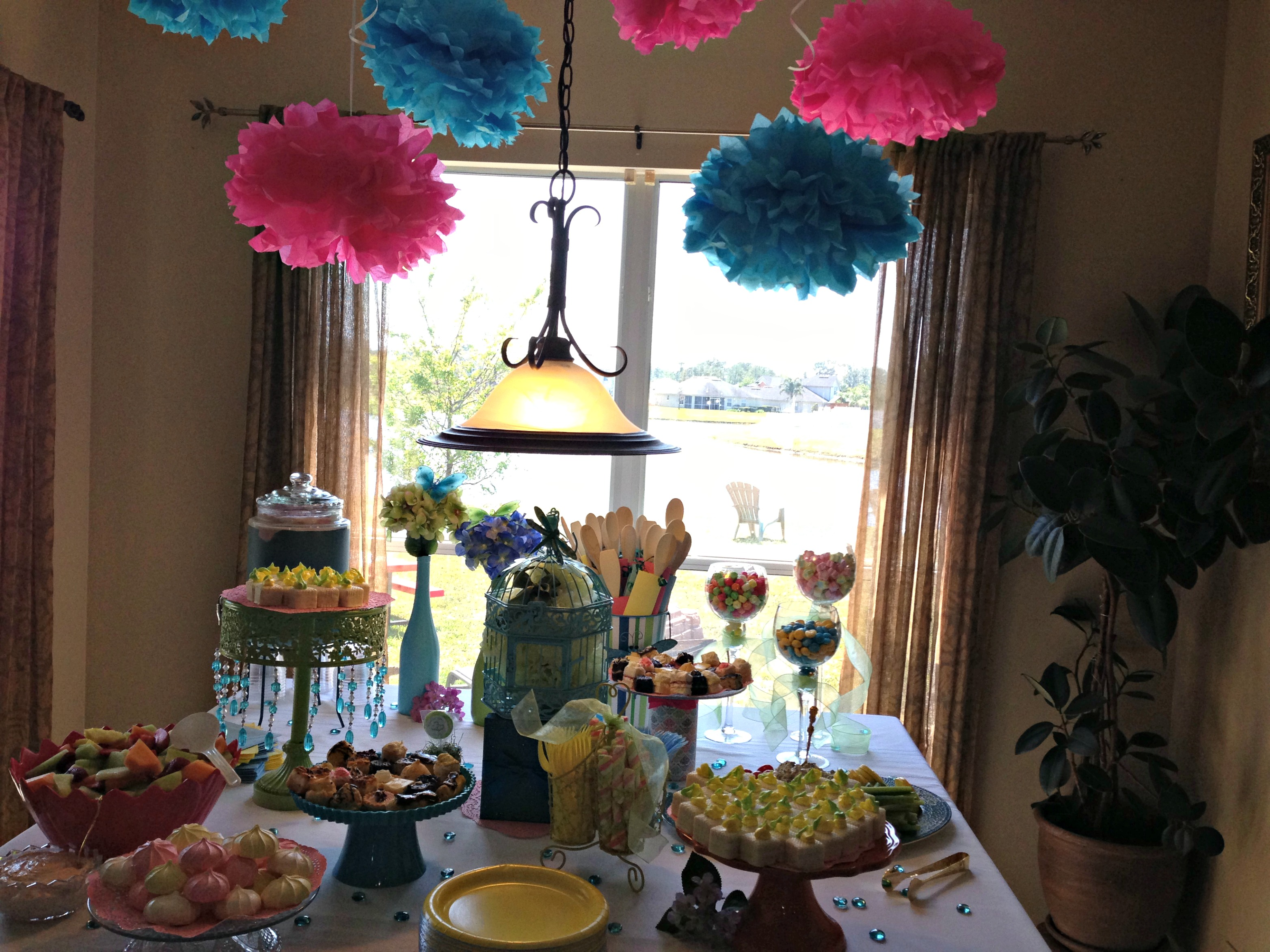 easy diy bridal shower ideas from pinterest wedding shower decorations The Adored Home Bridal Shower Ideas