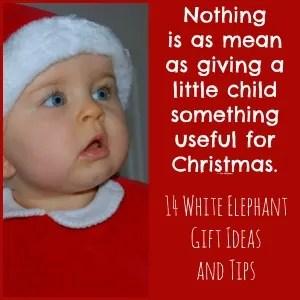 white elephant gift exchange holiday party