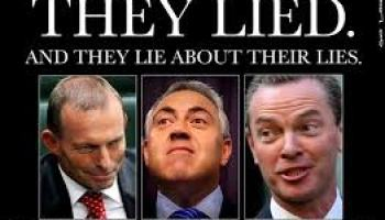 Abbott is telling lies about lies already told