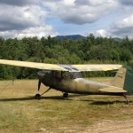 """O-1 tail number """"N4796G"""" parked at Franconia Airport/Franconia Soaring Center Glider Port in Franconia, N.H. in July 2012 (Air Cache Photo/John M. Guilfoil)"""