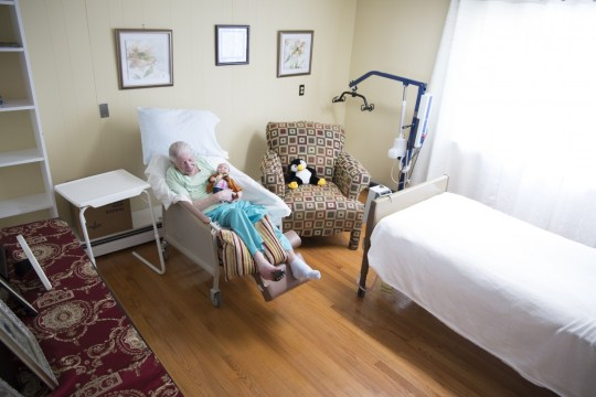 Pauline Finster, who barely speaks anymore, is receiving hospice care at an assisted-living facility. Meanwhile, gangrene is spreading across her right foot.