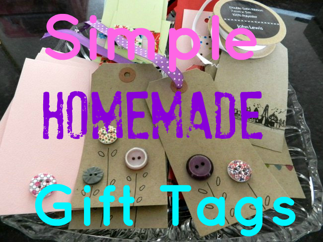 Simple homemade Gift tags, Handmade and thrifty