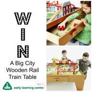 Giveaway for a Big City Wooden Rail Train Table (Worth £100) in time for Christmas!