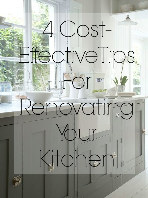 4 cost effective tips for renovating your kitchen the for Cost of renovating a kitchen uk
