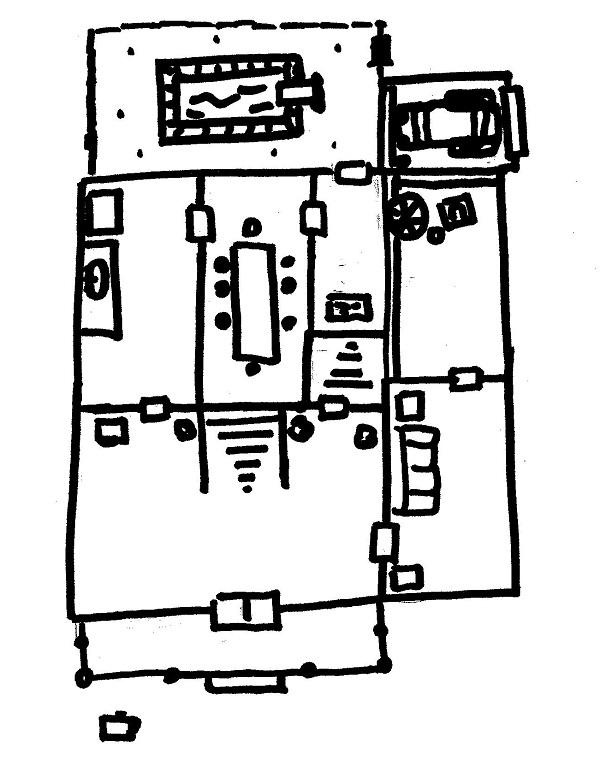 Maniac Mansion Floorplan 600 x 771