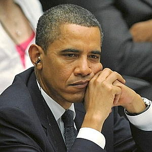 Obama looking bored