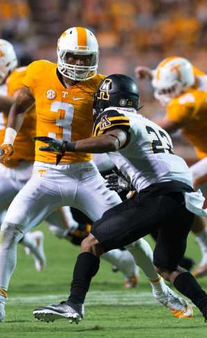 Freshman defensive back Clifton Duck broke up two passes and made four solo tackles against the Vols on September 1.