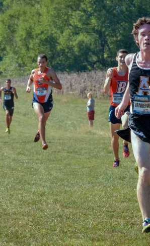 Andrew Vandenberg running in a meet this season. Courtesy: App State Athletics