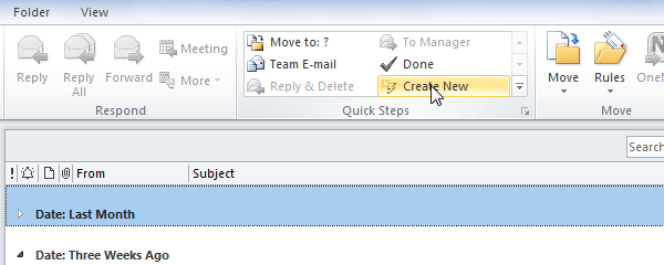 How to Automate Tasks Using Quick Steps in Outlook 2010