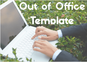 out of office template