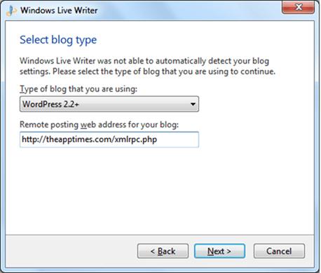 How to Configure a WordPress Blog on Windows Live Writer