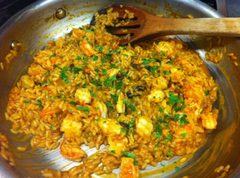 Spicy Seafood Risotto