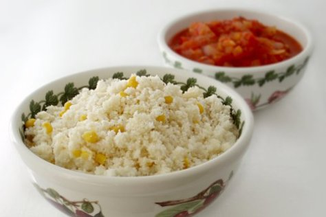 South African Pap Cornmeal with Tomato Onion Gravy