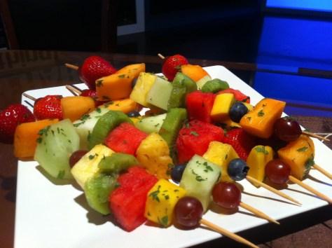 Minted Fruit Kebabs