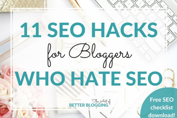 Genius! SEO hacks for bloggers are all about simple, effective SEO strategies that compound over time. Download your free SEO Hacks for Bloggers checklist!