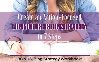 Create an Action Focused Big Picture Blog Strategy in 7 Steps