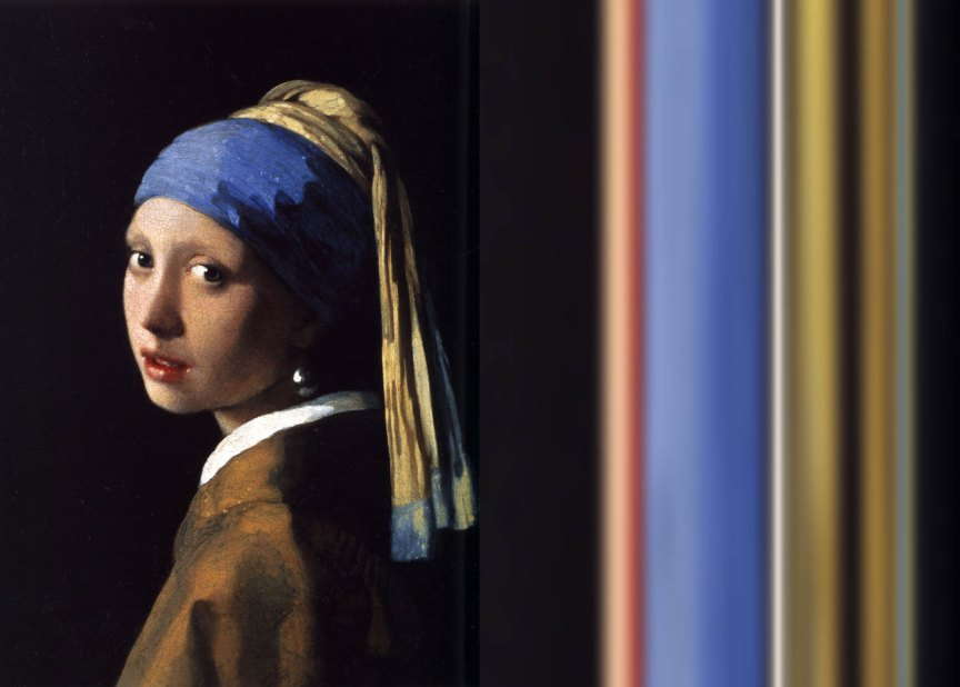 Girl With A Pearl Earring Ombré | The Art of Mark Evans