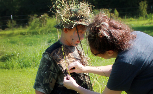 aunt-nephew-time-bootcamp-ghillie-suit