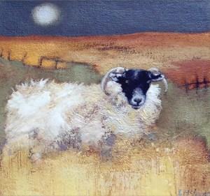 Blackie Ewe Giclee fine Art Print by Lesley McLaren