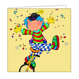 clown-unicyclist-greeting-card-by-anf