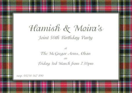 TartanPartyInvitation