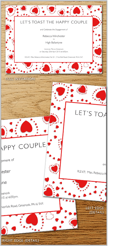Valentine Heart Engagement invite