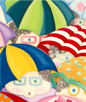 Brolly Dollies Signed Limited Edition Giclee Art Print by Marion Adie