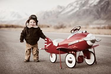 Boy in Plane