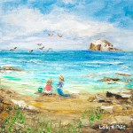 Summer Holiday Art Print by Leila Aitken at Bay Attic