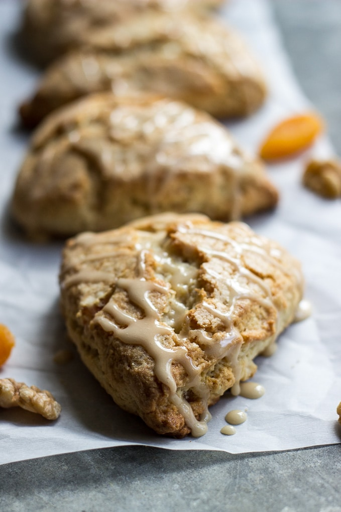 Apricot Walnut Scones with Maple Glaze | The Beach House ...