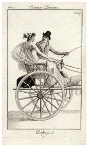 Couple in curricle Journal des Dames et des Modes, 1798